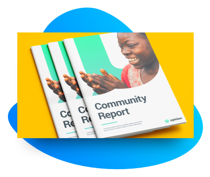 Community reports that compile results from interventions